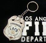 LAFD Badge Replica Key Chain /Captain, Engineer or Firefighter
