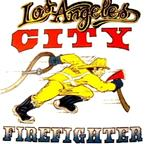 LAFD Old School Running FireFighter T-Shirt