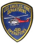 Official LAFD Air Ops Helecoptor Patch