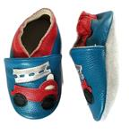 Leather Fire Truck soft sole infant shoes