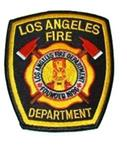 Official Black LAFD Uniform Patch Los Angeles Fire Department