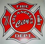 Los Angeles City Fire Dept. Maltese Cross Car Decal