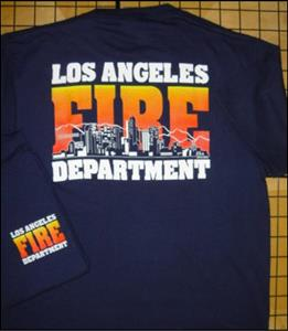Navy LAFD Skyline Youth T-Shirt