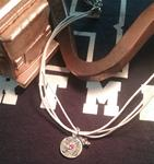 LAFD Hand Stamped Charm Choker Necklace