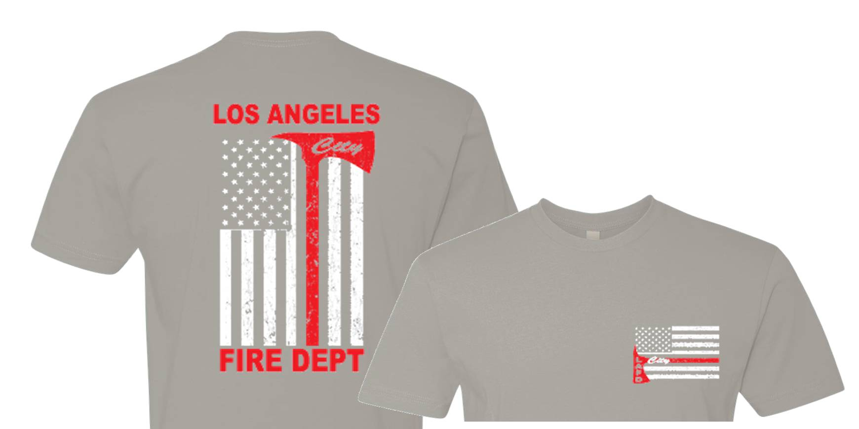 f23aeb51 Los Angeles City Fire Thin Red Line T-shirt Distressed American Flag Design  ...