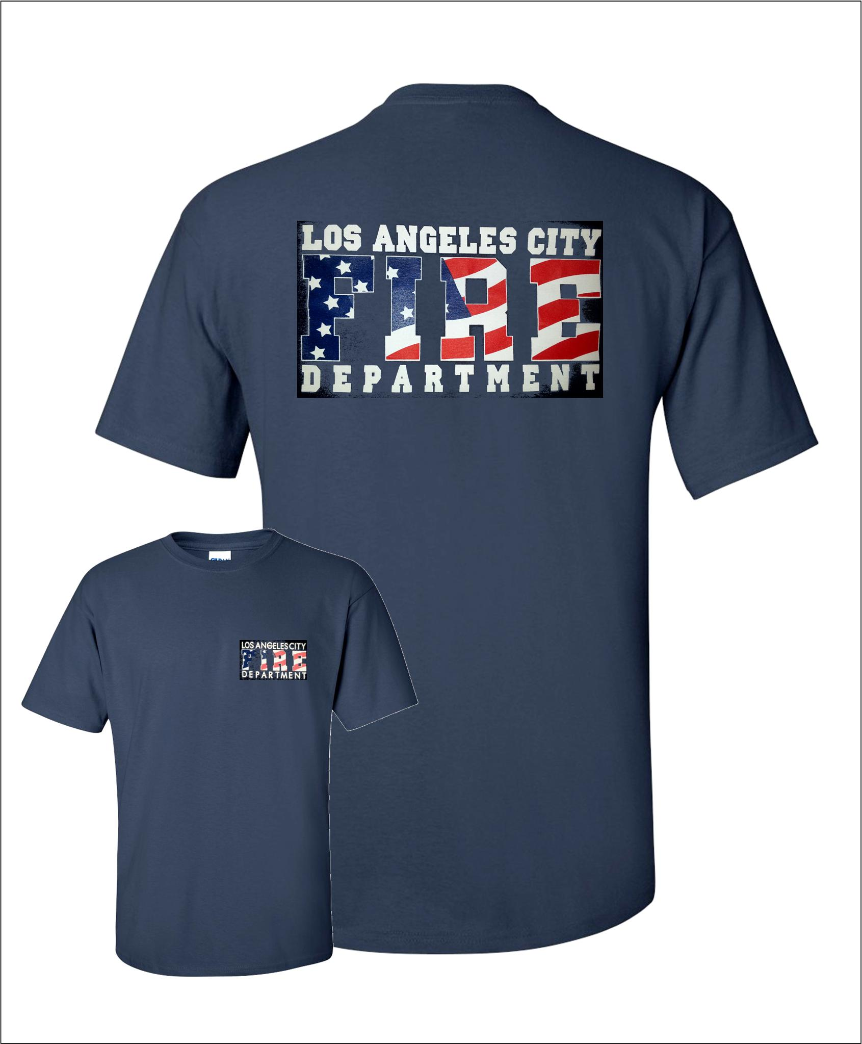 Lafd patriotic american flag t shirt fire attire for American apparel custom t shirts