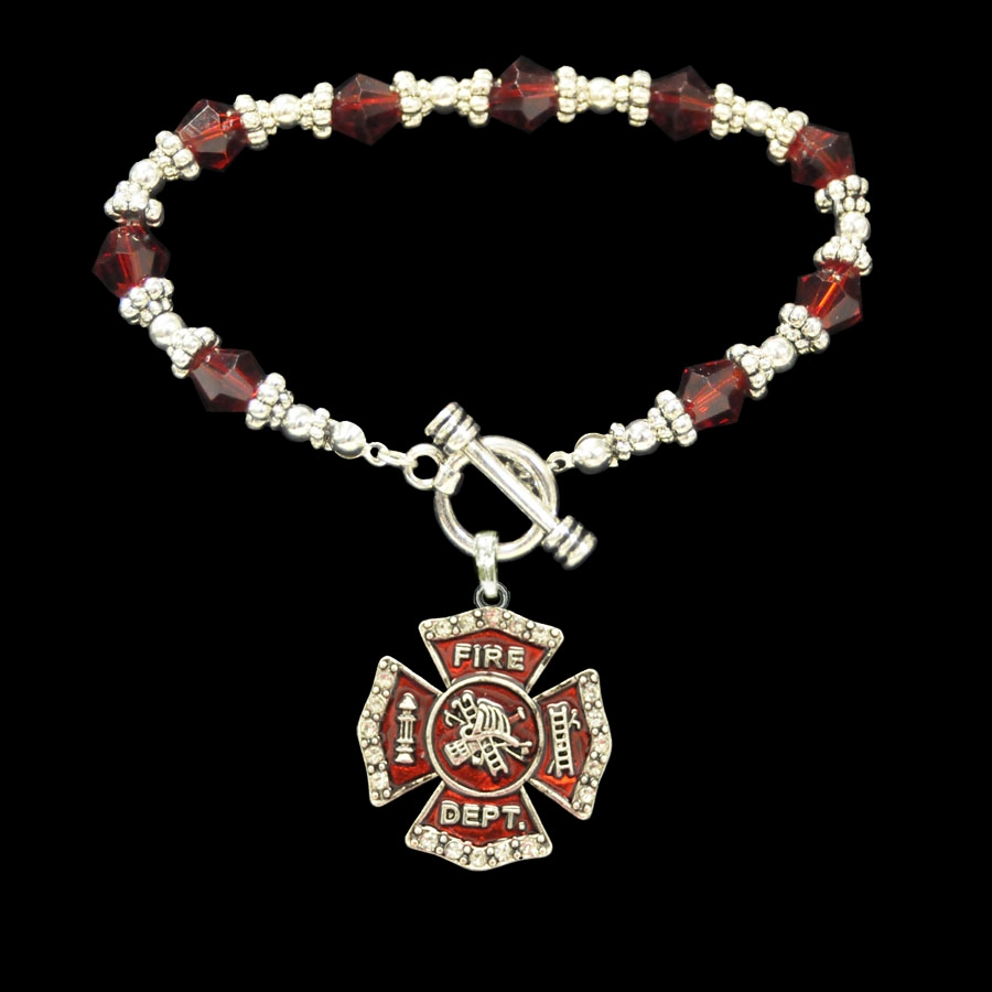 gift necklace wife jewelry pendant amazon firefighter charm cross crystal fireman dp mom maltese com
